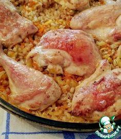 """Перловка с курицей в духовке """"Удивительная"""" ингредиенты"""