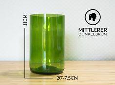 Gläser - MITTLERER / Ø 7-7,5CM / DUNKELGRÜN (Glas / Becher) - ein Designerstück von Glaeserne_Transparenz bei DaWanda