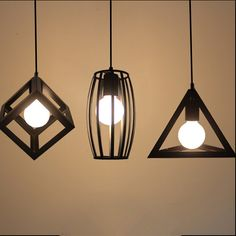 Vintage pendant lights LED lamp metal cube cage lampshade lighting hanging light fixture with LED G80 bulb-in Pendant Lights from Lights & Lighting on Aliexpress.com | Alibaba Group