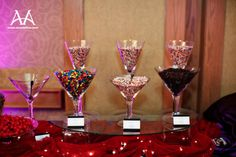 Ice Cream Sundae Bar! We will use the holders from our wedding to hold the different topping choices.