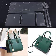 LeatherCraft Acrylic Shoulder Bag Handbag Pattern Stencil Template DIY - Bag/Clutch/Pencilcase/backpack/makeupbag - Before and After
