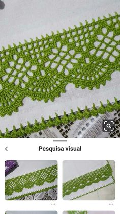 Crochet Edging Patterns, Crochet Lace Edging, Crochet Borders, Thread Crochet, Crochet Trim, Filet Crochet, Crochet Designs, Stitch Patterns, Knit Crochet