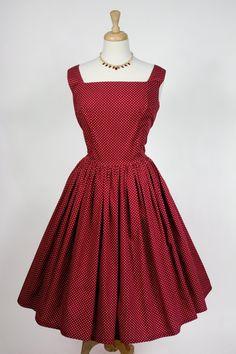 1950s Polka Dot Tea Dress. £40.00, via Etsy.