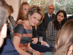 "In order to receive information about the ""Each One Teach One"" project, Queen Mathilde of Belgium visited the Mosane Free University College (HELMo -Haute Ecole Libre Mosane) in Liege on February 9, 2017. HELMo's purpose is to prepare students for professional careers both in the private and public sector."