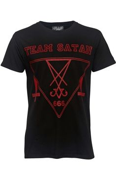 Darkside Clothing Team Satan Cross Men's T-Shirt, £14.99