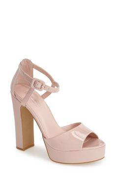 Wearing these dusty pink patent Topshop platforms with a floral fit & flare dress to a garden party this weekend.