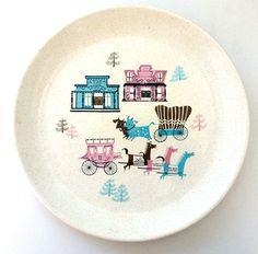 Salem China Dinnerware, Old Comstock, Pat Prichard, 1956.