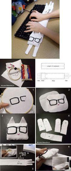 DIY Wrist Rest Keyboard. See this tutorial here