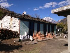 Himalayan village home in Munsiyari, Uttarakhand, India #cottage #homes #himalayas #village