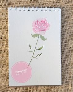 Happy Friday everyone!  I did this quick rose sketch with my Windsor and newton watercolors.  I love how vibrant yet soft they are!      Canson watercolor paper | Cotman Winsor and newton