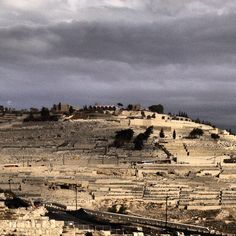Cloudy Day over the Mount of Olives