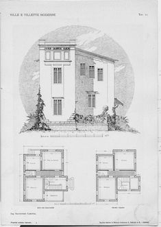 Villas and modern houses: plans and sketches makes ...