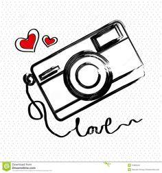 desenho de camera fotografica vetor - Pesquisa Google