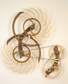 White Water Kinetic Sculpture -  Wood That Works Kinetic Sculptures   by David C Roy  www.woodthatworks.com