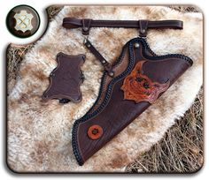 Leather quiver Cheshire Cat by Lucky-Leather on DeviantArt Leather Quiver, Leather Holster, Blacksmithing Knives, Archery Equipment, Traditional Archery, Bow Arrows, Bow Hunting, Cheshire Cat, How To Make Bows