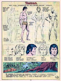 How to draw Tarzan. By comic book artist, Joe Kubert Comic Book Artists, Comic Artist, Comic Books Art, Tarzan, Living In The Jungle, Comic Character, Character Design, Comic Book Drawing, Joe Kubert