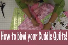 Jenny Doan from Missouri Star Quilt Company teaches us how to bind a baby blanket or quilt using Cuddle Cloth or Minkee Fabr...
