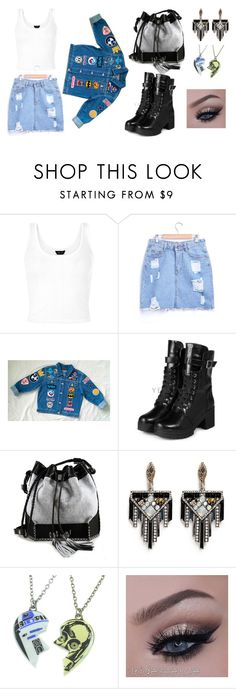 """Cartoon @_@"" by hien-anhhs on Polyvore featuring mode, yeswalker, Carianne Moore, Lulu Frost et R2"