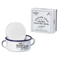 Enamel Shaving Bowl + Shaving Soap