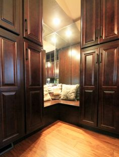 Check out this massive, fabulous walk-in custom closet! Completed by TVL Creative.