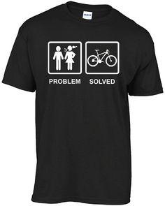 Mountain biking - PROBLEM SOLVED t-shirt Karting, Go Kart, Horse Riding, Mountain Biking, Tee Shirts, Bike, Mens Tops, Mtb Downhill, Etsy