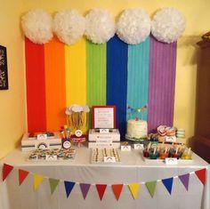 Rainbow 2nd Birthday | CatchMyParty.com