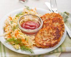 Рёсти (рёшти) – швейцарские картофельные оладьи: http://hap.dobrypovar.ru/kulinariya/blyuda-iz-kartofelya/ryosti-shveytsarskie-kartofelnyie-oladi/ Эти оладушки, с хрустящей корочкой, так же вкусны, как наши деруны и драники. И могут сойти за вполне сытное самостоятельное блюдо.