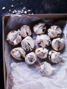 black licorice meringue