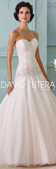 The David Tutera for Mon Cheri Spring 2016 Wedding Gown Collection - Style No. 116214 Ora #laceweddingdresses