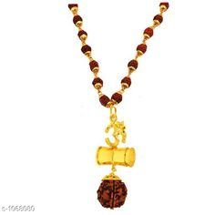 Jewellery Stylish Jewellery Set  *Material* Wood And Brass  *Size* Free Size  *Description* It Has 1 Piece Of  Om With Damaru & Rudraksha Mala  *Work* Beads Work  *Sizes Available* Free Size *   Catalog Rating: ★4 (143)  Catalog Name: Amazing Stylish Jewellery Set Vol 12 CatalogID_130585 C65-SC1227 Code: 951-1068080-