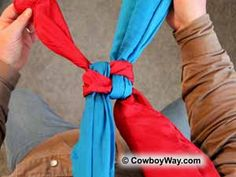How to tie a buckaroo knot..for wild rags