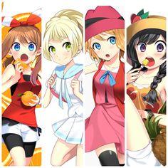 """Me, Haruka, Lillie, and Serena""""."""
