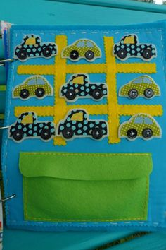 Tic Tac Toe felt quiet book page - made to order. $12.00, via Etsy.