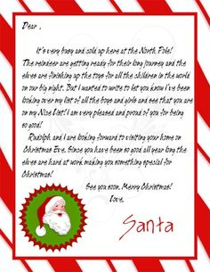 Santa letter 26 letter from santa pinterest letters santa find this pin and more on santa claus and the mrs letter from santa and nice list certificate spiritdancerdesigns Gallery