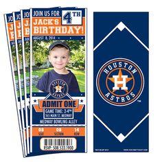 12 Houston Astros Birthday Party Ticket by ThatsMyTicket on Etsy