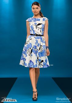 Dress with Collar, Sleeve Project Runway pattern 2444 Simplicity