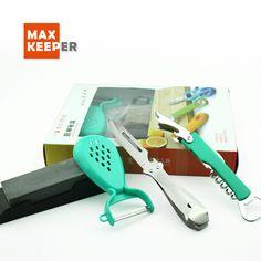 2017 New Fashion multifunctional kitchen accessories 4 piece Plastic Kitchen Gadgets set,Peeler,opener,knife,grinder sharpener