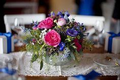 Hot-Pink-Purple-Blue-Wedding-Centerpiece