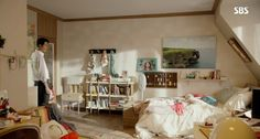 Drama interior-it's okay, it's love peeking the interior ~ -INSIDE Korea JoongAng Daily Cute Bedroom Decor, Bedroom Inspo, Living Room Decor, Small Apartment Bedrooms, Room Tour, Dream Rooms, Room Inspiration, Decor Styles, Toddler Bed