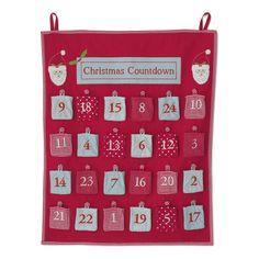 Christmas Countdown Fabric Advent Calendar