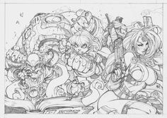 rough pencil joe mad   Labels: Joe Madureira , Pencils , Sketch , Spider-Man