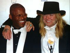 Gregg Allman (R) of the Allman Brothers Band poses with band drummer Jaimoe after they were inducted into the Rock and Roll Hall of Fame in ceremonies in New York January 12 via @AOL_Lifestyle Read more: https://www.aol.com/article/entertainment/2017/05/27/southern-rock-music-star-gregg-allman-dead-at-69/22112691/?a_dgi=aolshare_pinterest#fullscreen