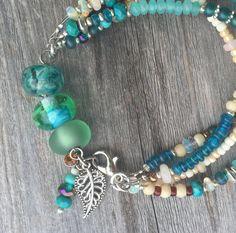 Beaded Bracelet / Genuine Gemstone by YellowMangoBracelets on Etsy