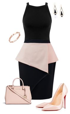 Untitled #643 by angela-vitello on Polyvore featuring polyvore, fashion, style, Miss Selfridge, Christian Louboutin, Michael Kors, CC SKYE and clothing