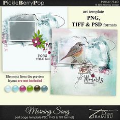 Morning Song ~ art page template 1 by Tiramisu design