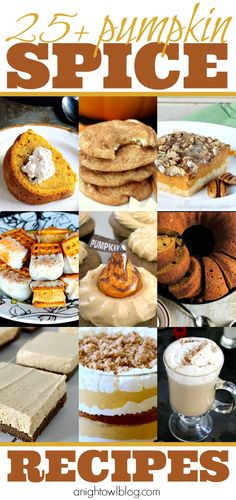 25 Pumpkin Spice Recipes - Cookies, Cupcakes and MORE, perfect for your Thanksgiving Menu!