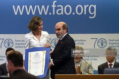 Queen Letizia Of Spain is named FAO Special Ambassador for Nutrition by FAO Director-General Jose Graziano da Silva at the FAO Headquarters on June 12, 2015 in Rome, Italy.  (Photo by Franco Origlia/Getty Images)