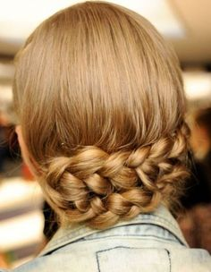 Just the perfect hairstyle for your elegant day or evening dress..