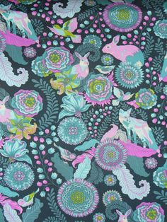 Hey, I found this really awesome Etsy listing at https://www.etsy.com/uk/listing/107048185/fox-trot-in-dusk-tula-pink-fabric-fox