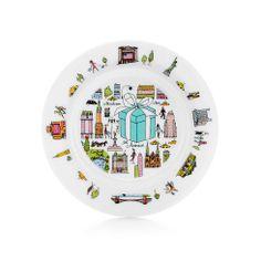 """Tiffany & Co.® Fifth Avenue dessert plate in bone china.   Tiffany & Co.   7"""" dia.   $85.00"""
